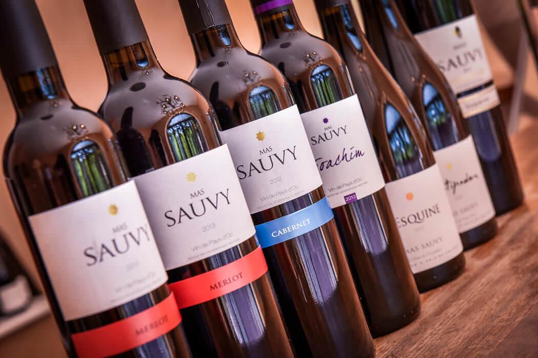 Gamme de vins rouges du Mas Sauvy